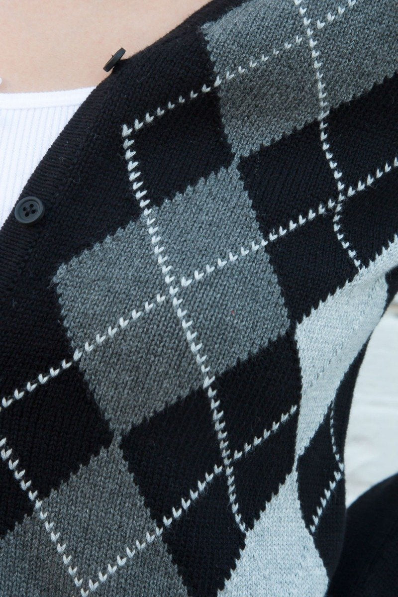 Black And Grey Argyle / S