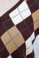 Brown And Tan Argyle / S