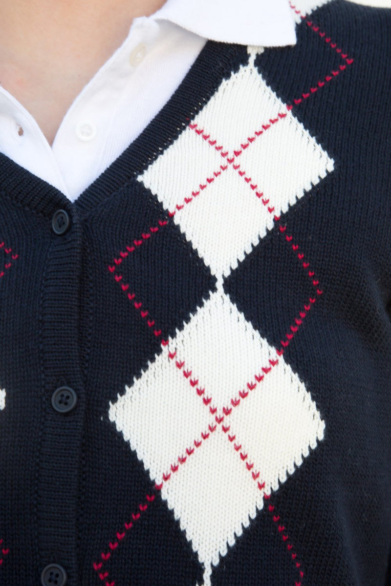 Navy Red Argyle / S