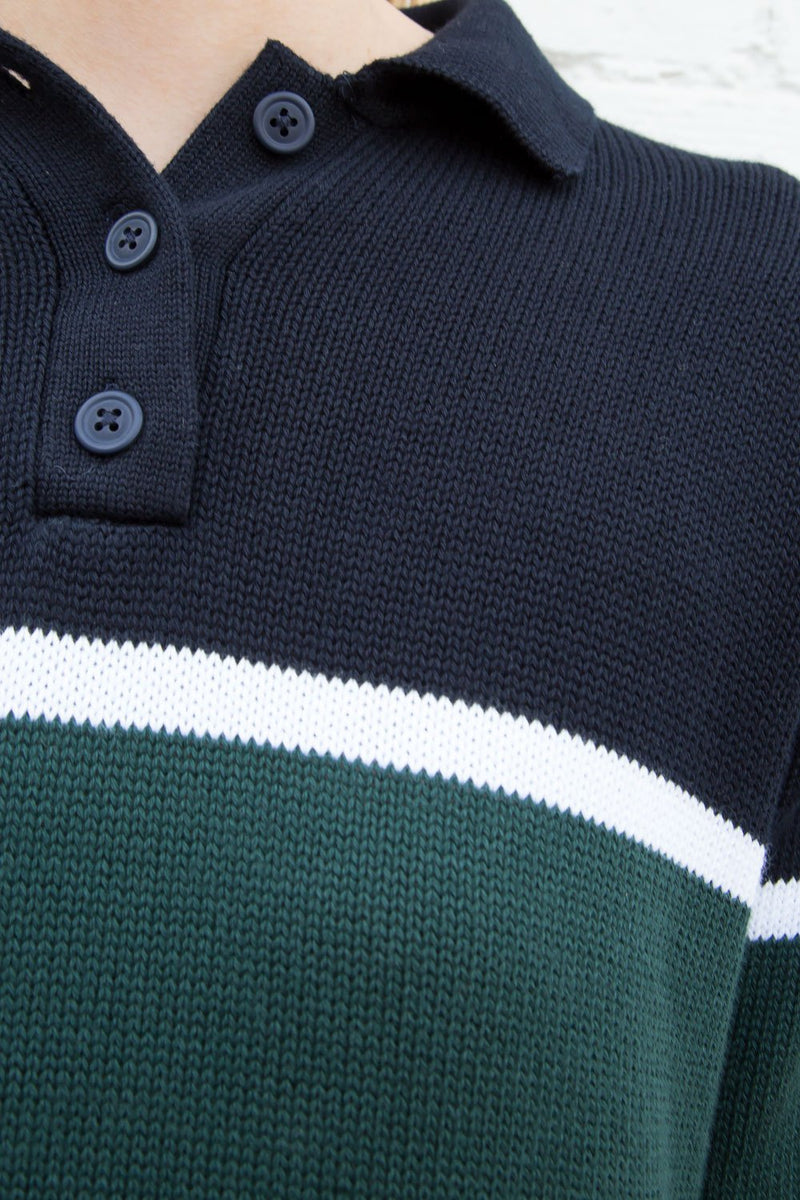 Green Navy White Stripes / S/M