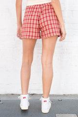 Red And Ivory Plaid / XS/S