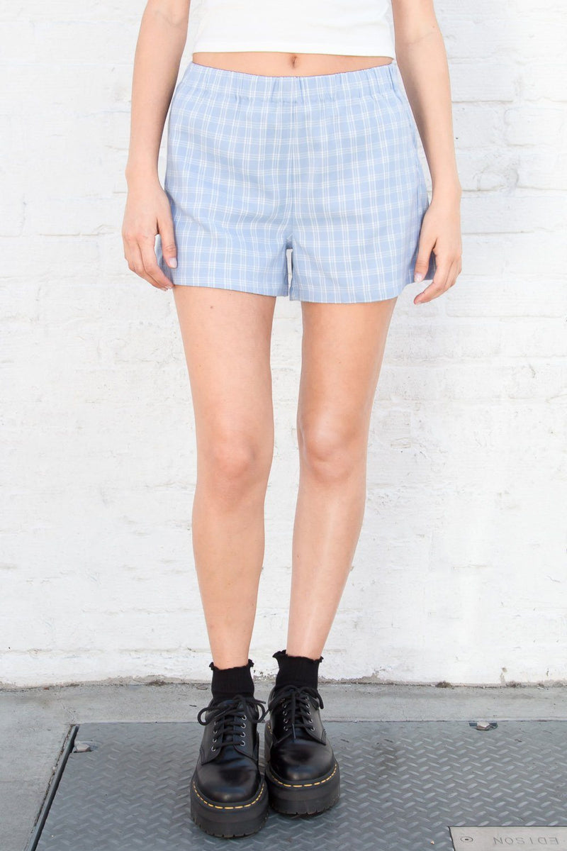 Baby Blue Plaid / XS/S