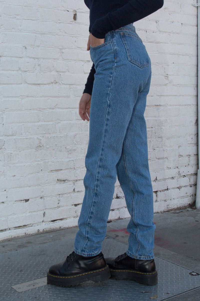 Side Photo of Carly Light Wash Jeans