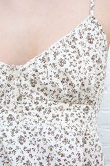 Ivory Brown Floral / XS/S