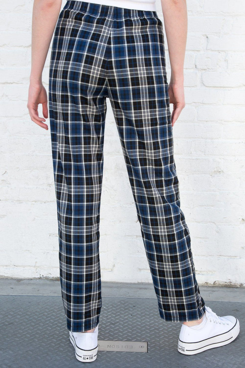 Dark Blue Black and Grey Plaid / S