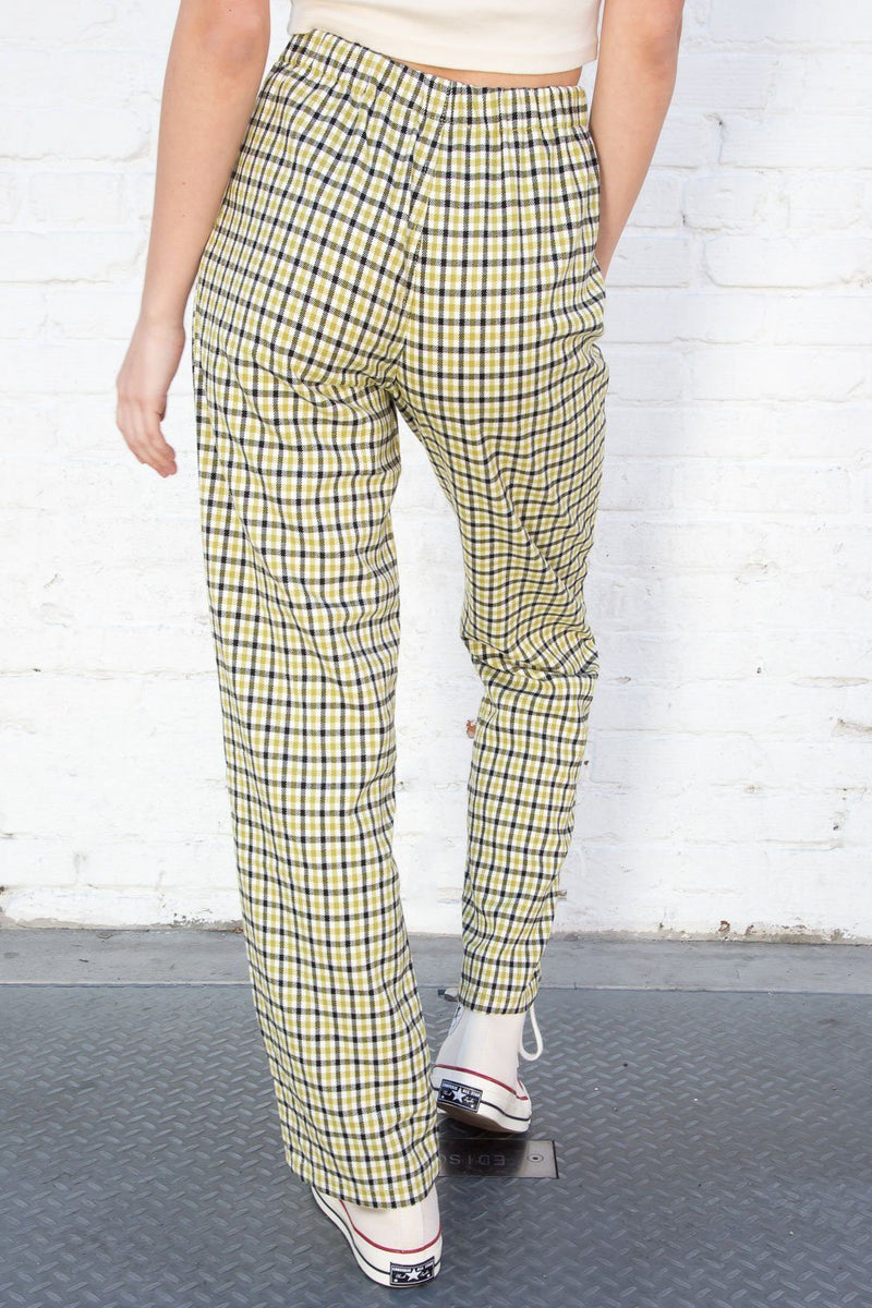 Green Black and White Plaid / S
