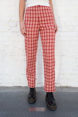 Red and Ivory Plaid / S