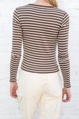 Brown Ivory Stripes / S