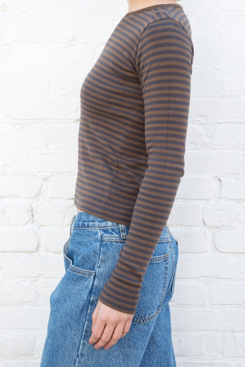 Brown Navy Blue Stripes / S