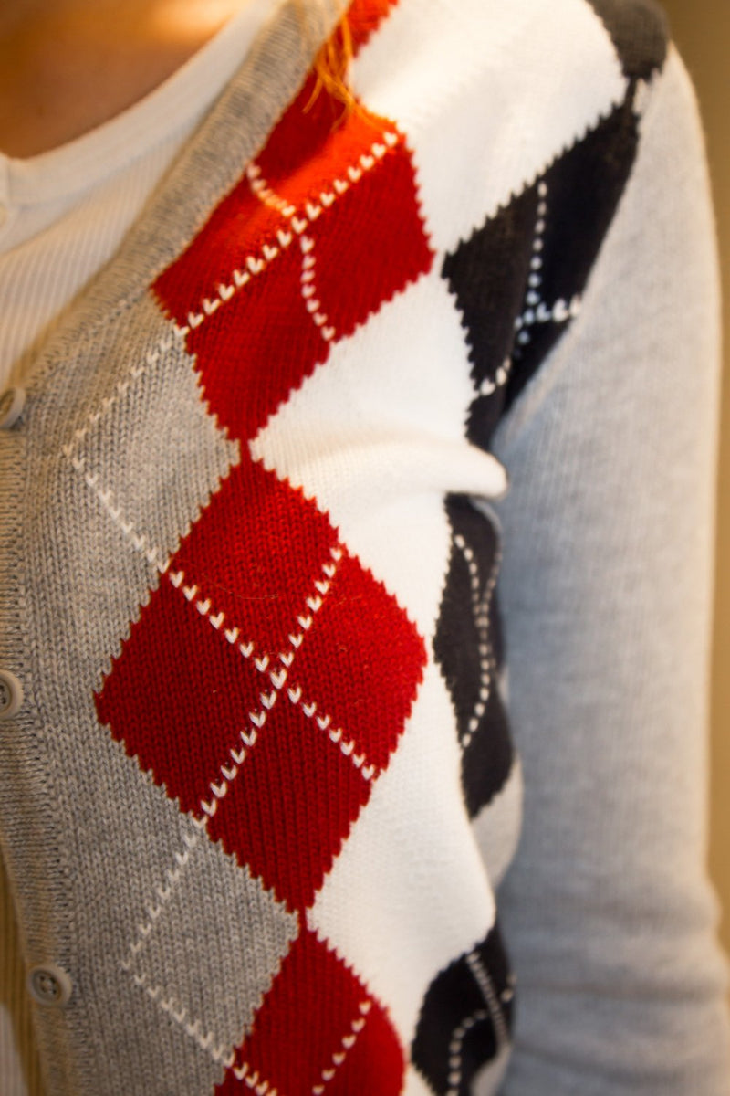 Red And White Argyle / S