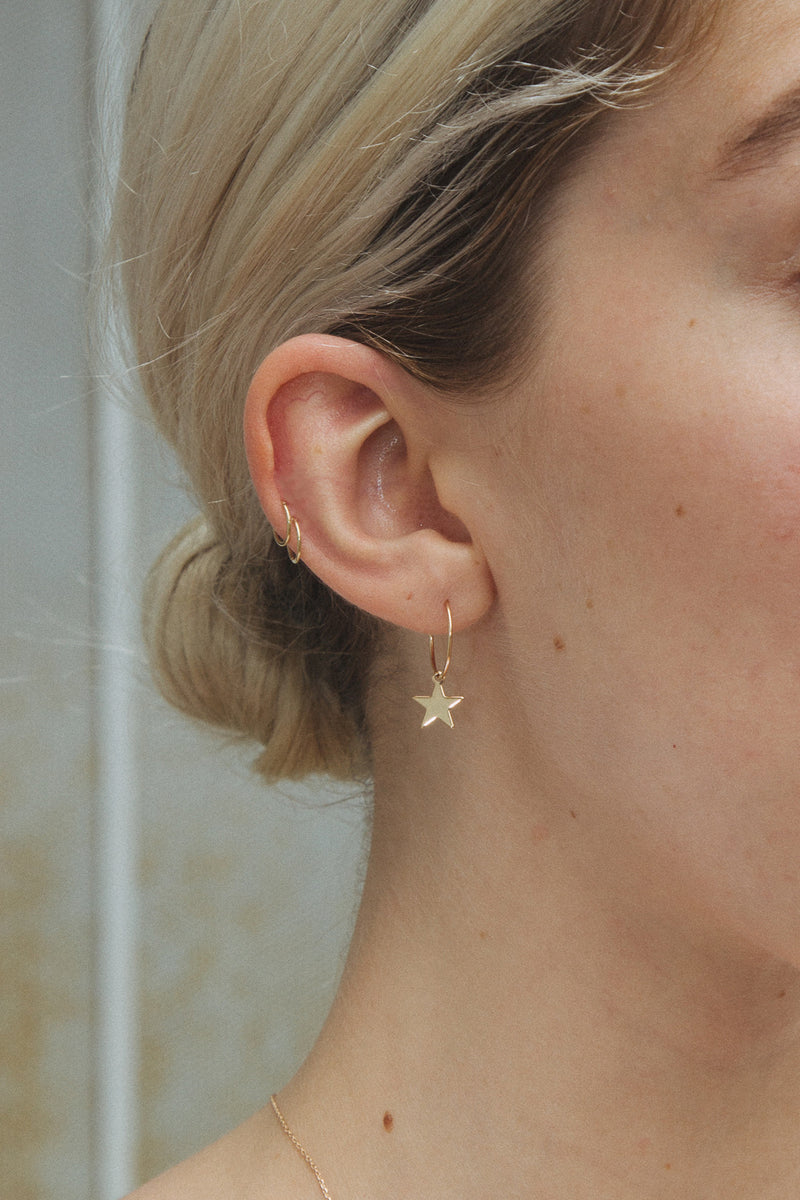 Detail Photo of Star Charm Earrings