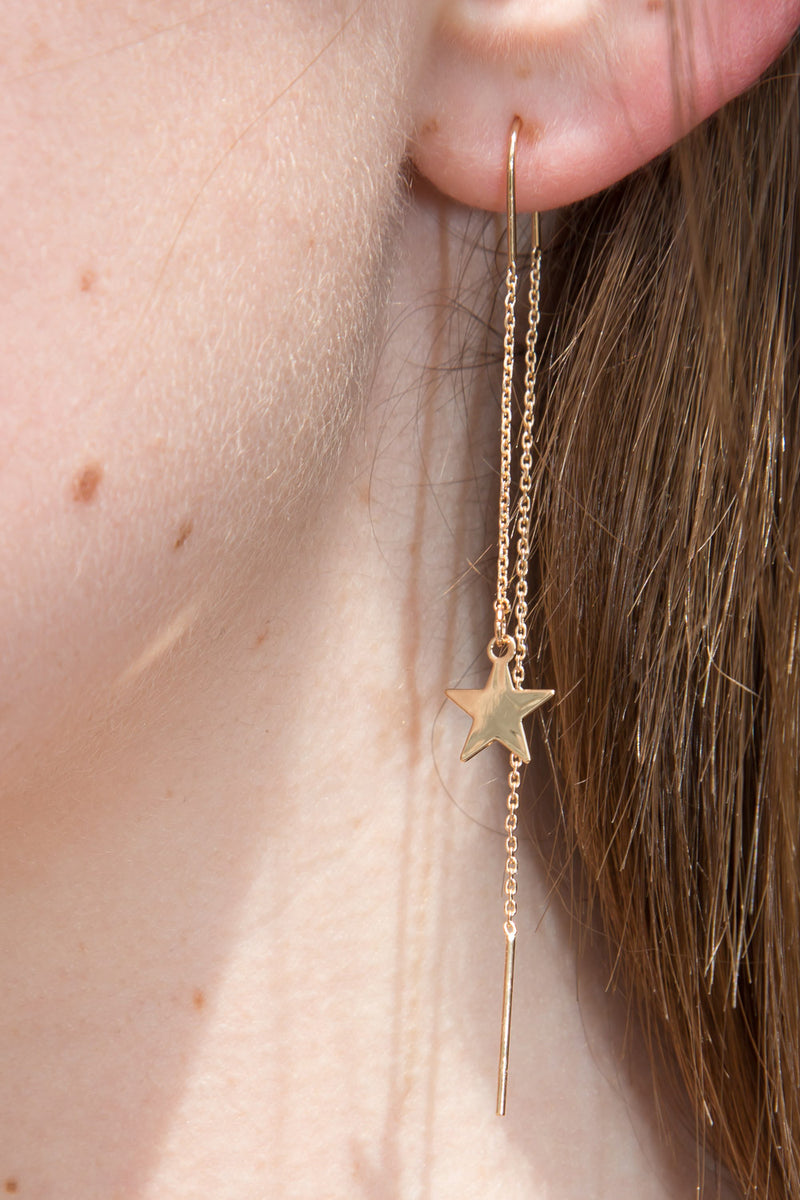 Detail Photo of Star Drop Earrings