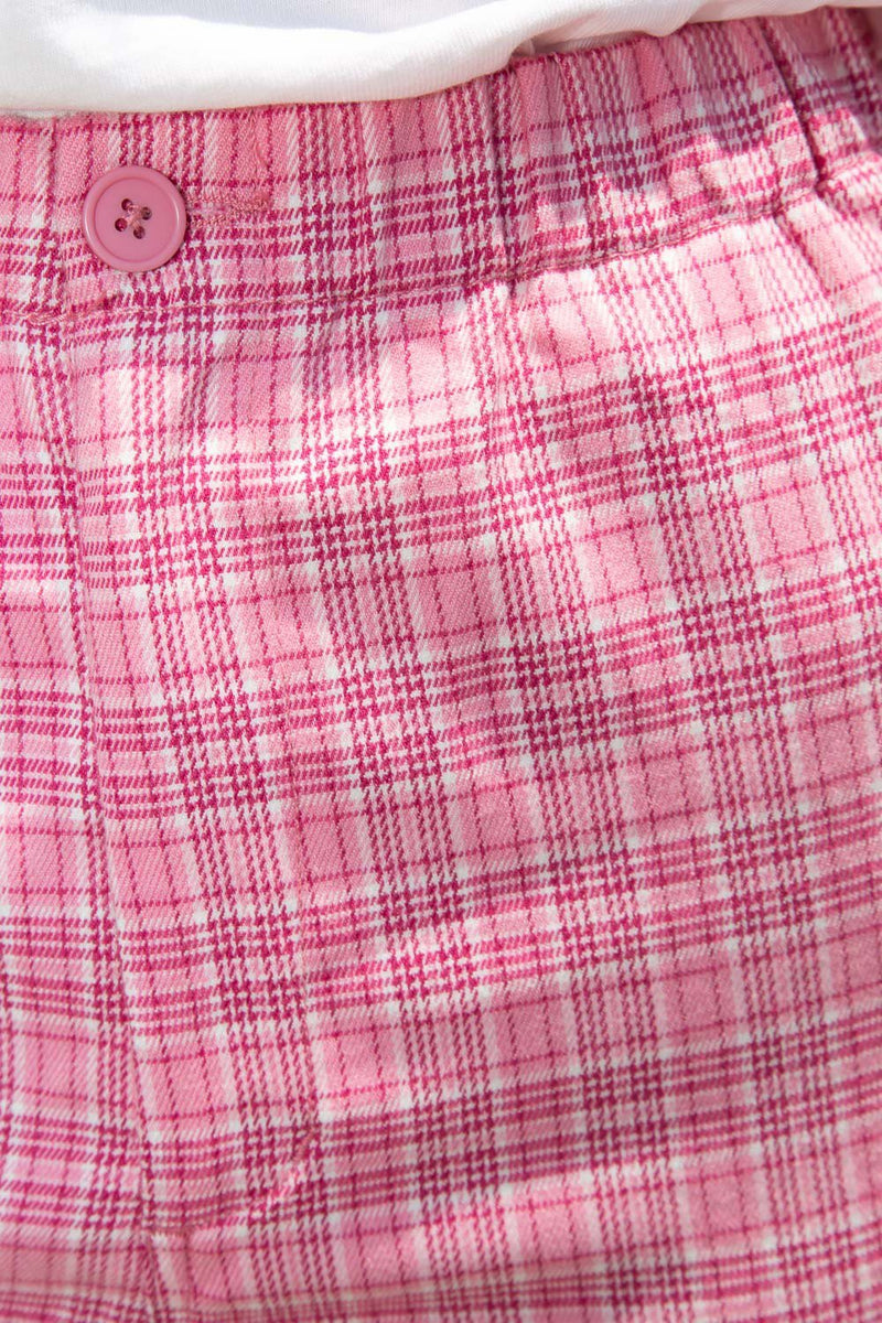 Bubblegum Pink and White Plaid / S