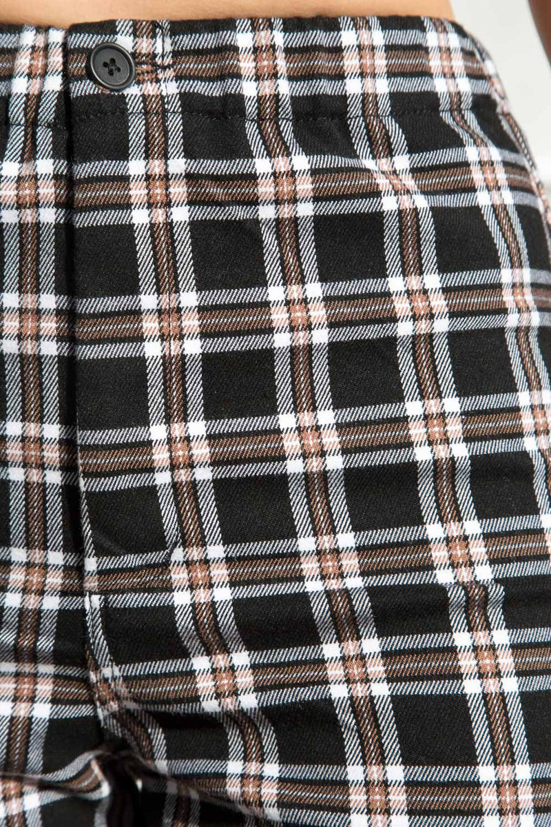 Black Brown Plaid / S
