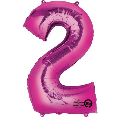 Number Balloon - 2 - Pink