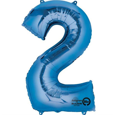 Number Balloon - 2 - Blue