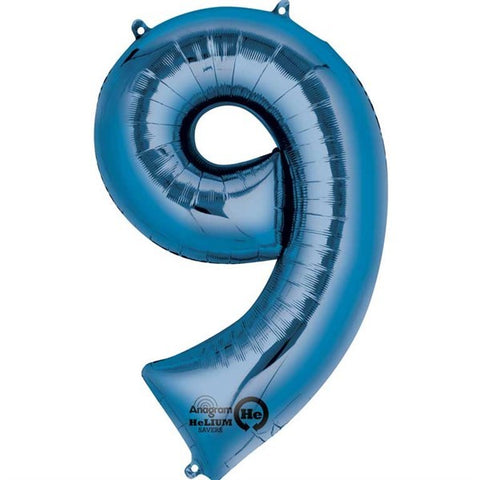Number Balloon - 9 - Blue