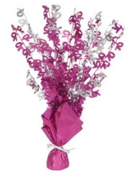 70 Table Centrepiece Pink and Silver