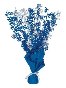21 Table Centrepiece Blue and Silver
