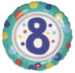 8 Spot On Birthday Balloon
