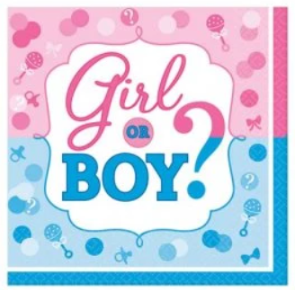 Girl or Boy Gender Reveal Napkins