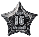 16 Birthday Glitz Balloon