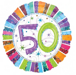 50 Radiant Birthday Balloon