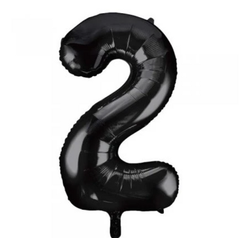 Number Balloon - 2 - Black