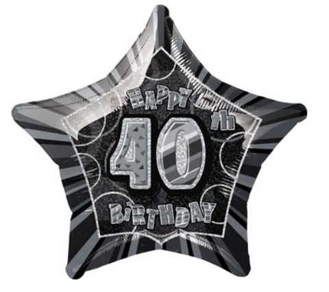 40 Birthday Glitz Balloon