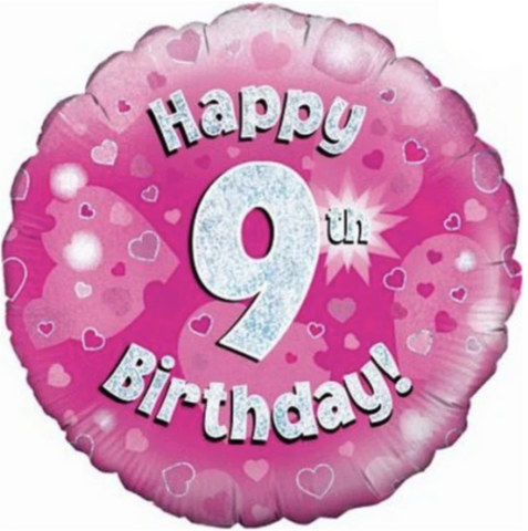 9 Happy Birthday Pink Balloon