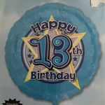 13 Birthday Star Balloon