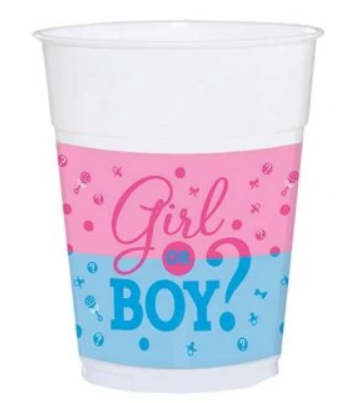 Girl or Boy Gender Reveal Cups