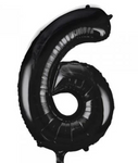 Number Balloon - 6 - Black