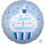 1 Birthday Cupcake Balloon