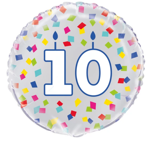 10 Birthday Confetti Balloon