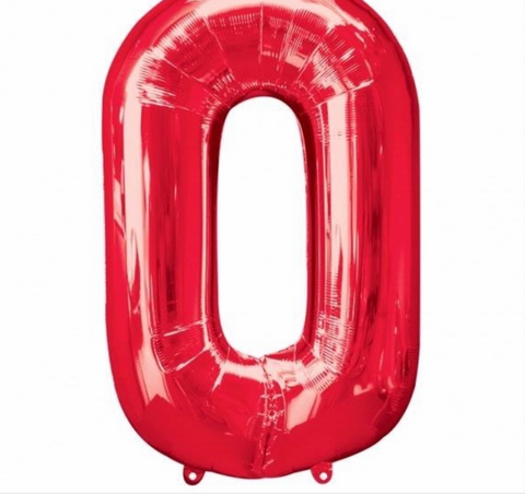 Number Balloon - 0 - Red