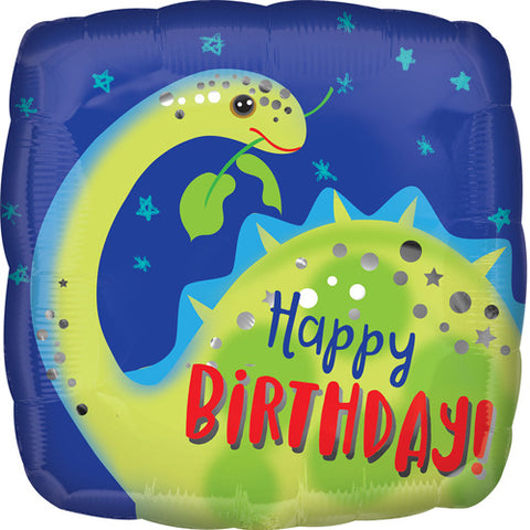 Happy Birthday Brontosaurus Balloon