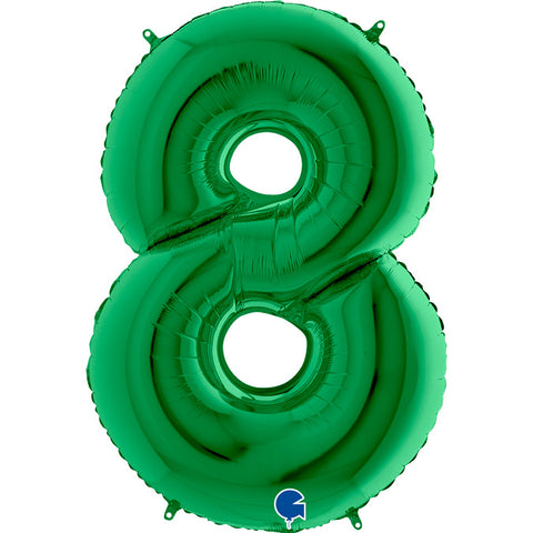Number Balloon - 8 - Green