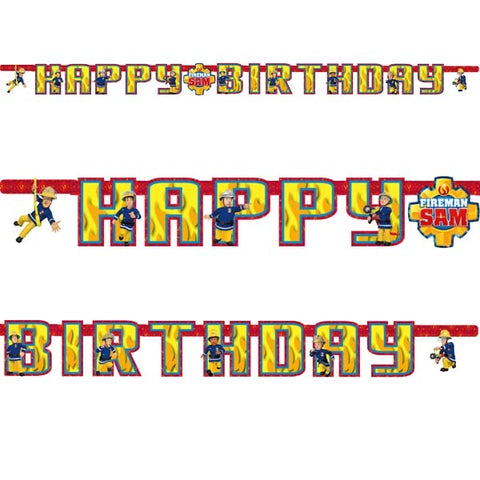 Fireman Sam Happy Birthday Banner