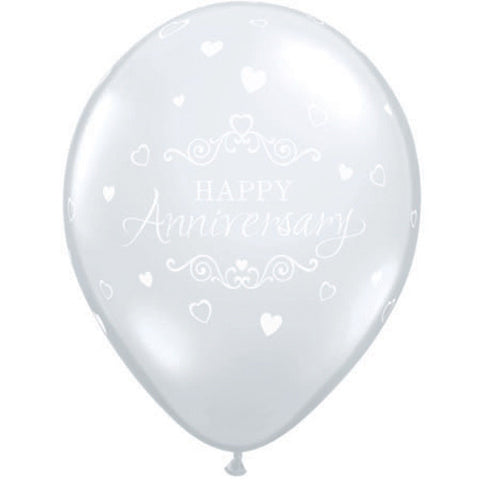 Anniversary Clear Latex Balloon Pack