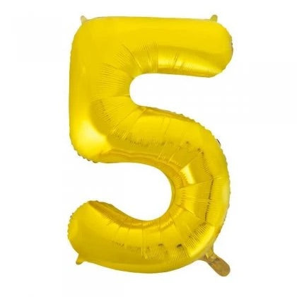 Number Balloon - 5 - Gold
