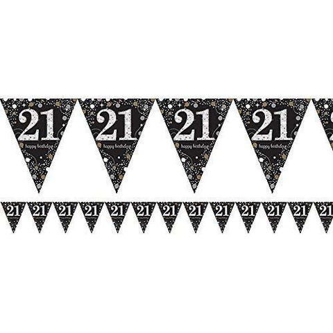 21 Gold Sparkling Bunting