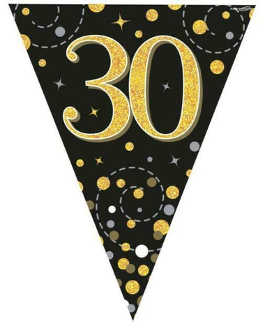 30 Gold Sparkling Bunting