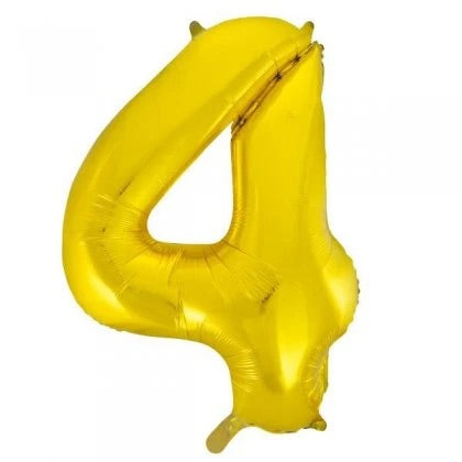 Number Balloon - 4 - Gold