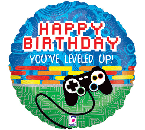 Gamer Level Up Birthday Balloon