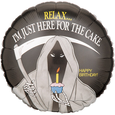 Grim Reaper Birthday Balloon