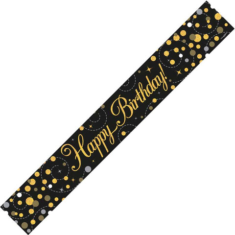 Birthday Banner - Black & Gold