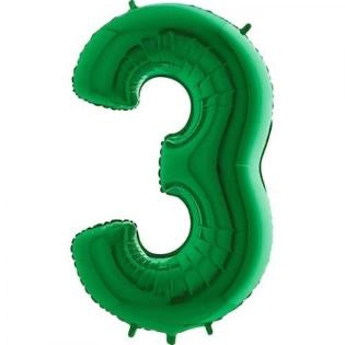Number Balloon - 3 - Green