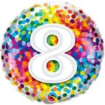 8 Rainbow Confetti Balloon