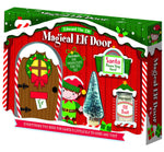 Elf Fairy Door Set with Santa stop here sign Magic Elf Dust and Tree
